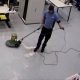 Scrub-washing floor in data centre widget