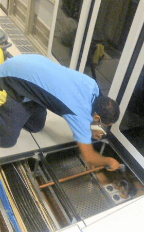 Data centre sub-floor cleaning