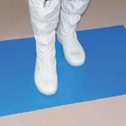 tacky mat in use in a cleanroom