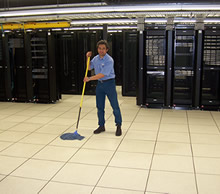 Above-floor cleaning