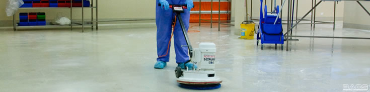 BACS Cleanroom floor maintenance