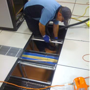 Server room sub-floor cleaning