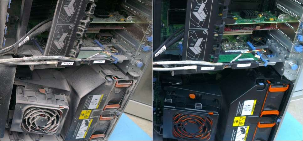 data centre server rack cleaning