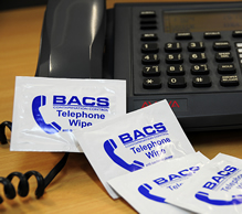 68115 - BACS Telephone Wipes 100 Sachets