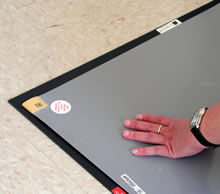 64014FB - Black Texwipe CleanStep™ Frame <br />66.0 x 116.8 x 0.3 cm frame for use with 64005B and 64010B Texwipe CleanStep Mats, 1 frame per case