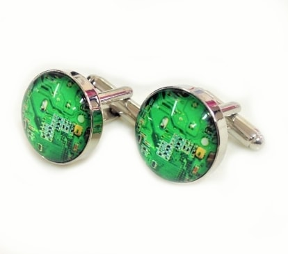65102 - Circuit Board Cufflinks 1 pair<br />Novelty gift for men