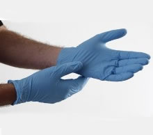 68045XL - BACS Contamination Control Nitrile Gloves<br />Powder-free, disposable, size extra-large<br />100 gloves per pack, 10 packs per case