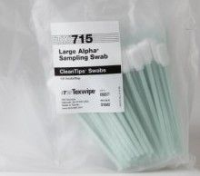 63070 - Texwipe TX715 Large Alpha® Sampling Swab<br /> Knitted polyester swab for HPLC sampling/cleaning validation of equipment, 100 swabs per bag